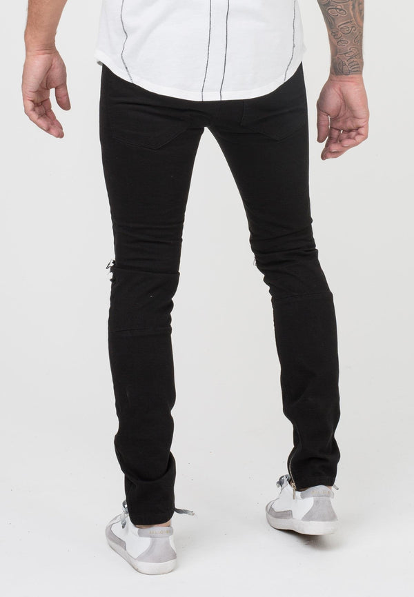 RELIGION Force Ripped Jeans Black
