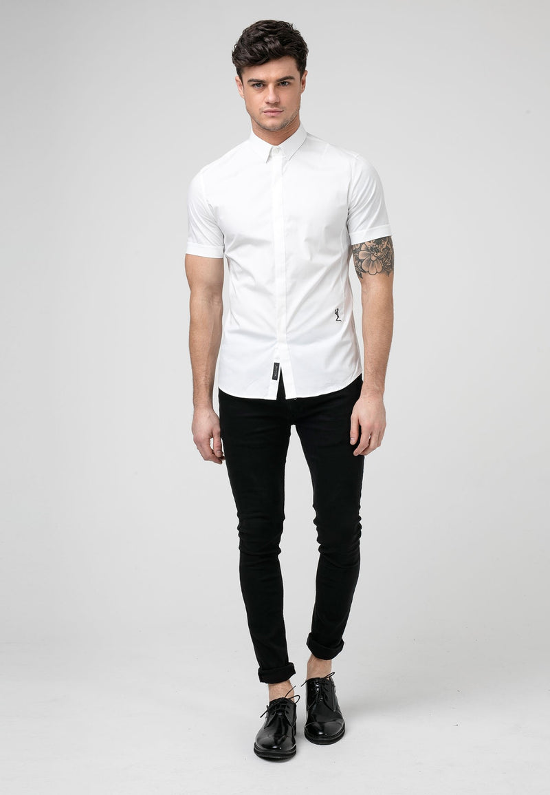 RELIGION League White Short Sleeves Shirt
