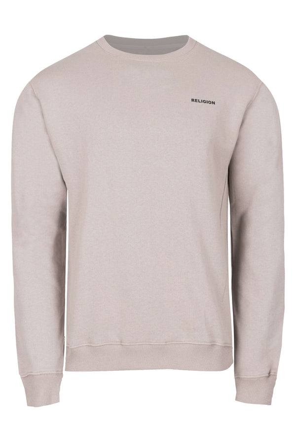 RELIGION Injection Relaxed Fit Taupe Sweat