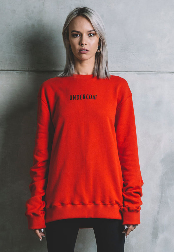 UNDERCOAT Printed Red Sweat