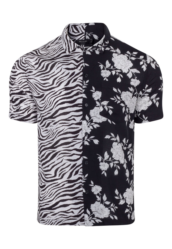 RELIGION Blitz All Over Floral Print Shirt