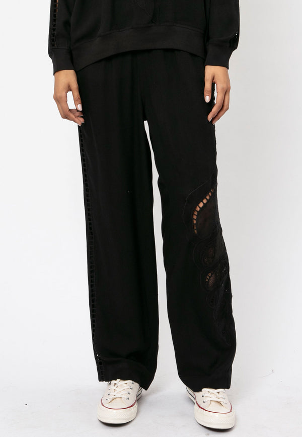 RELIGION Dune Relaxed Black Trousers