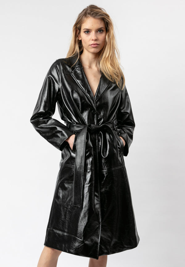 RELIGION Stealth Black Trench Coat