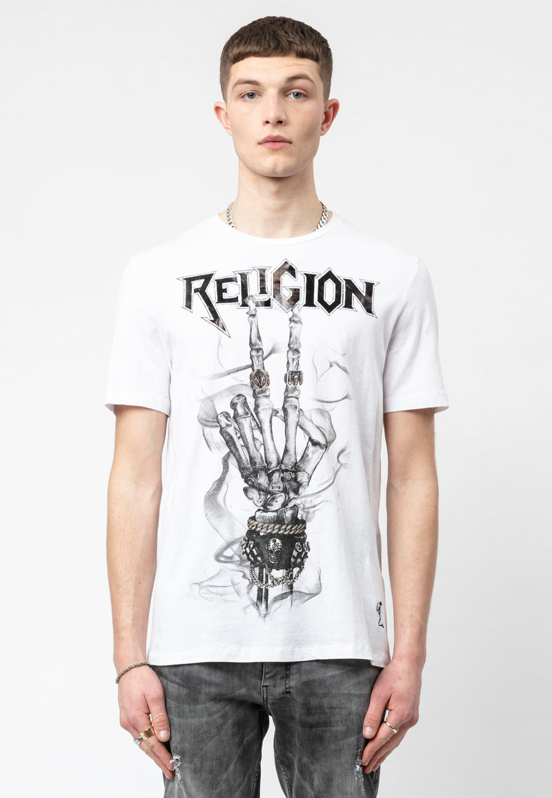 PEACE SKELETON T-SHIRT WHITE