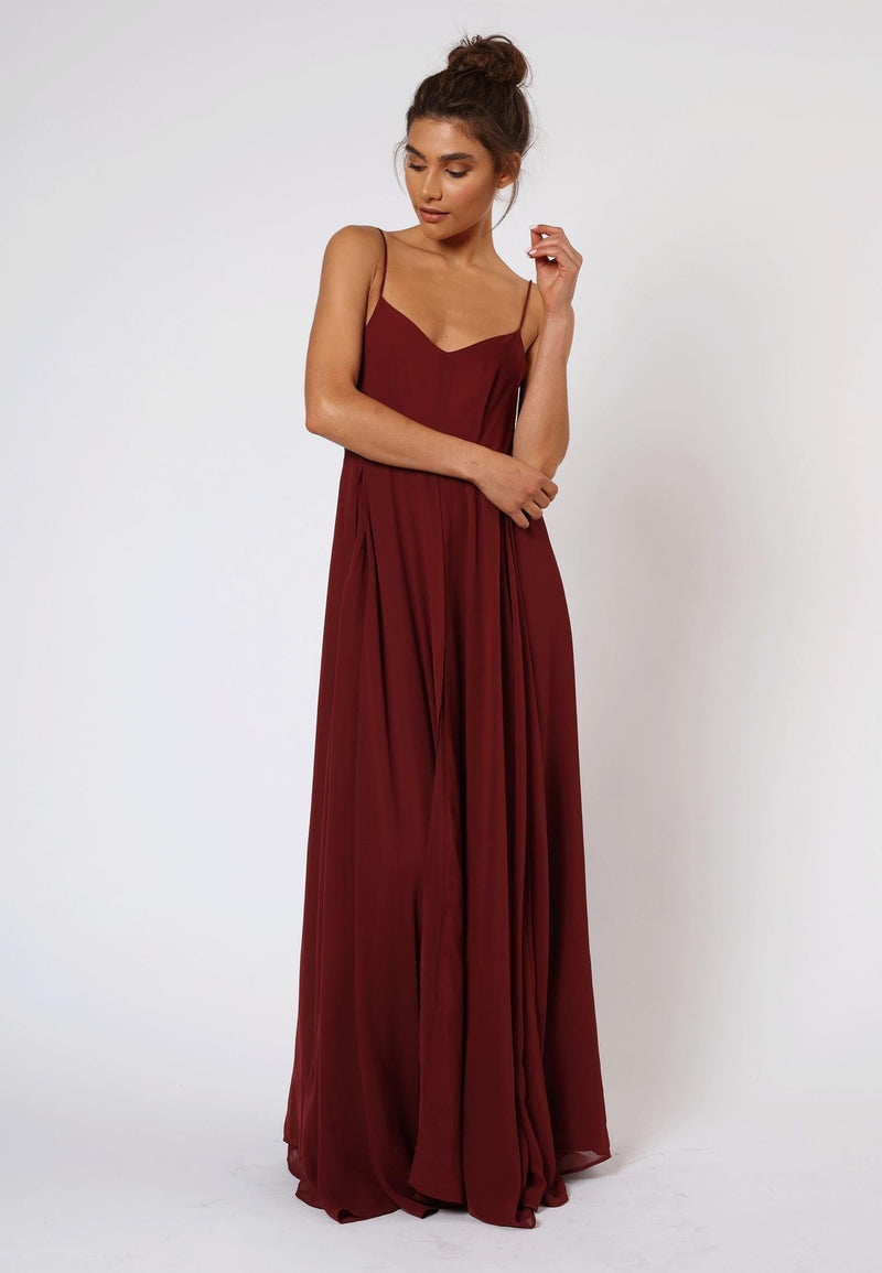 RELIGION Olsen Maxi Dress Cardinal