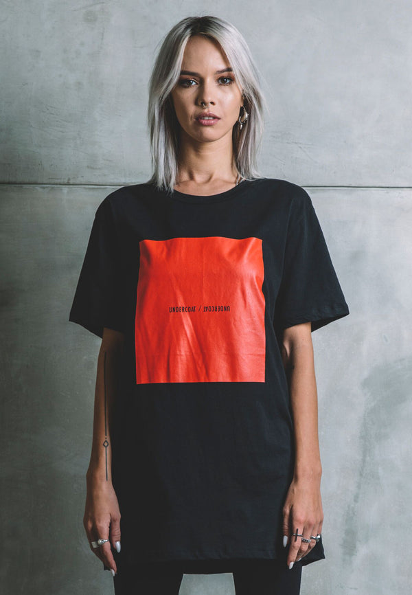 UNDERCOAT Boxed Oversized Black T-Shirt
