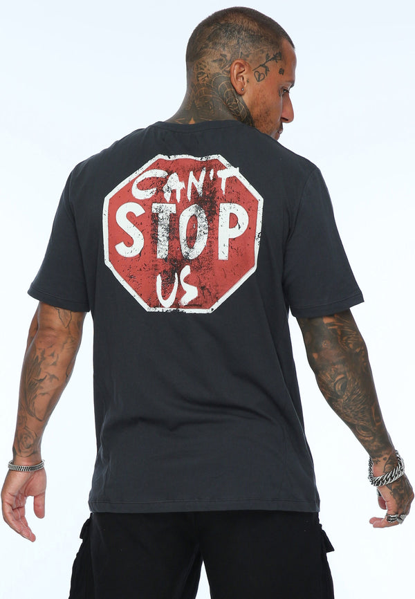 RELIGION Can't Stop Us Slogan Black T-Shirt