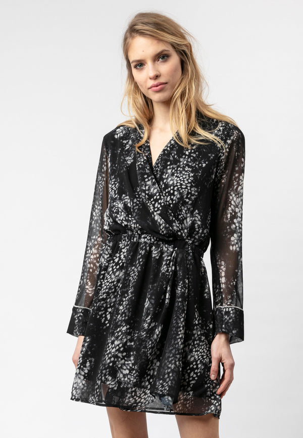 RELIGION Advance Animal Print Mini Dress