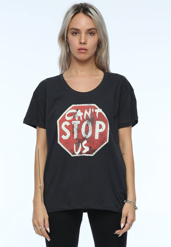 RELIGION Slogan Can't Stop Us Black T-Shirt
