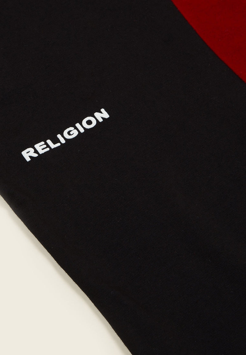 Glitterbox X RELIGION Boxy Fit Black T-Shirt