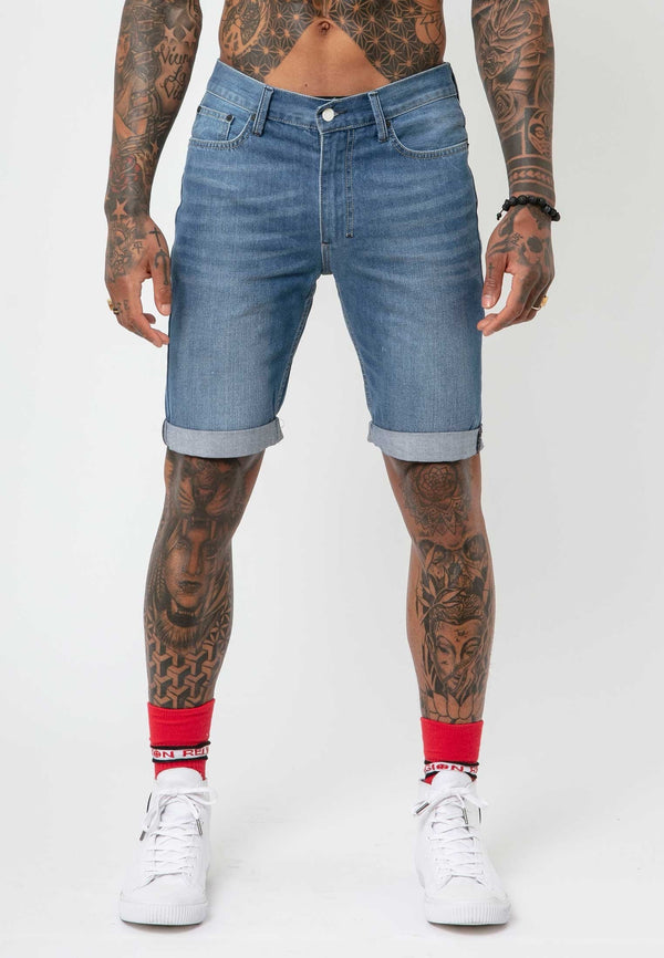 RELIGION Hackney Blue Shorts