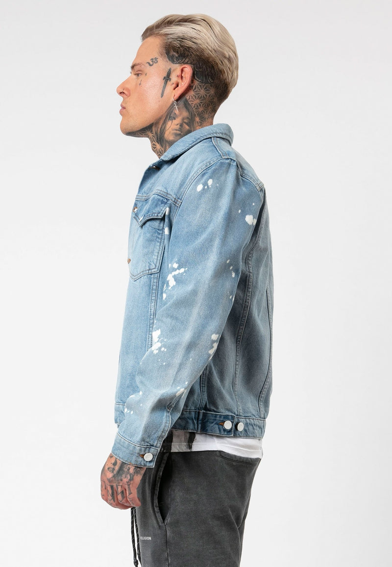 RELIGION Vintage Blitz Jacket Broken Blue Kyle Beaumont