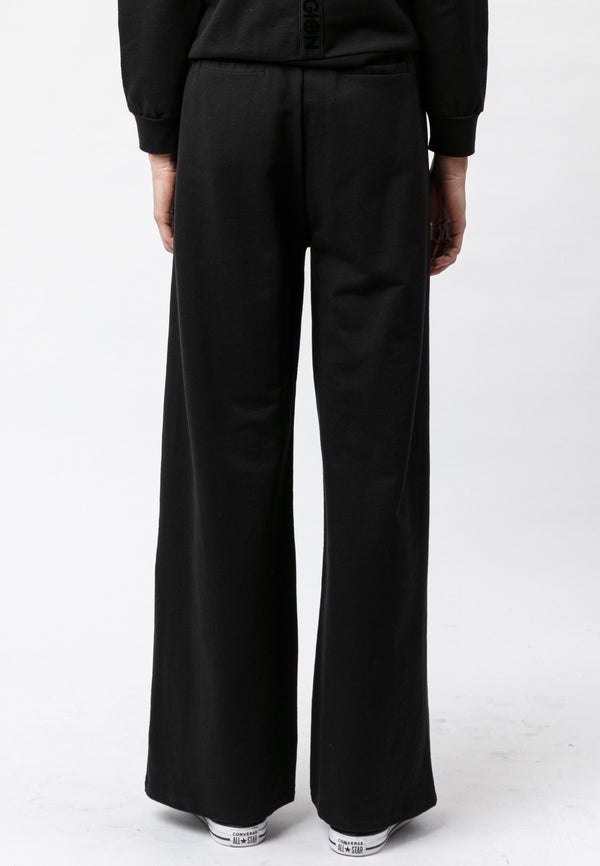 RELIGION Fame Wide Leg Black Trousers
