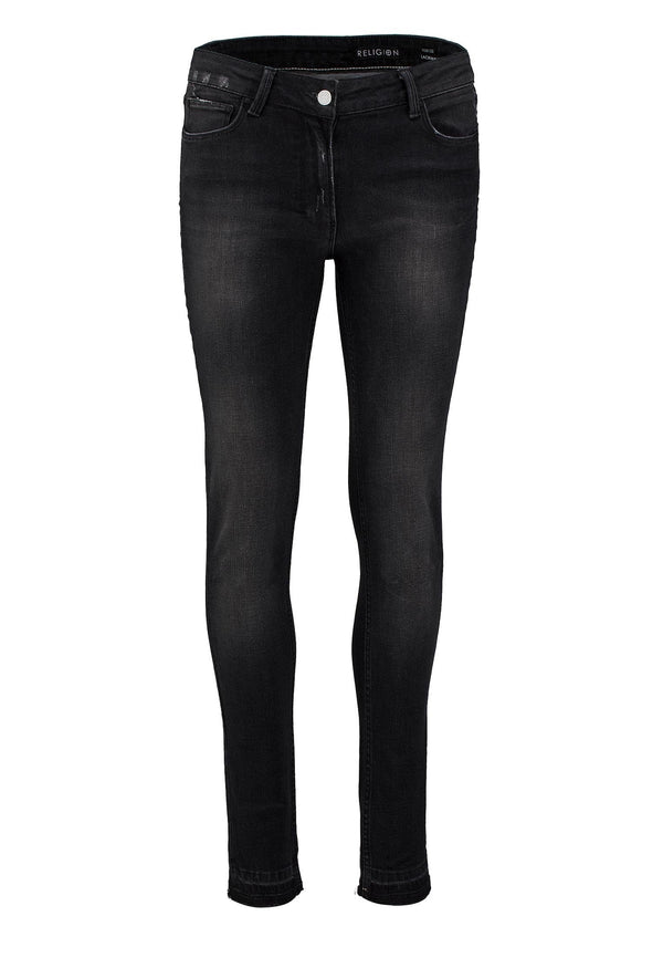 RELIGION Judas Skinny Jeans Washed Grey