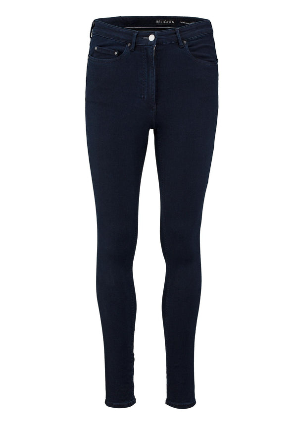 RELIGION Sacral High Waisted Skinny Jeans Indigo