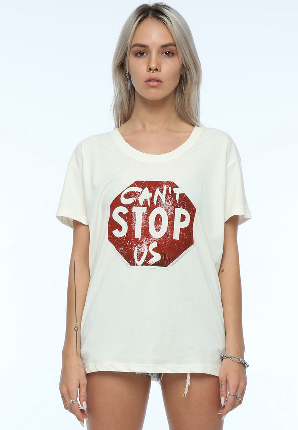 RELIGION Slogan Can't Stop Us White T-Shirt
