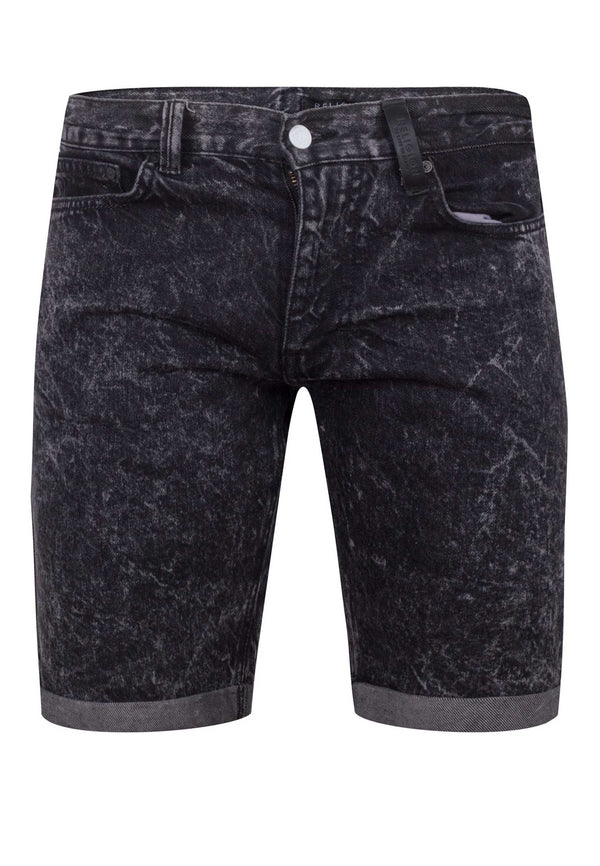 RELIGION Men's Blurred Grey Shorts