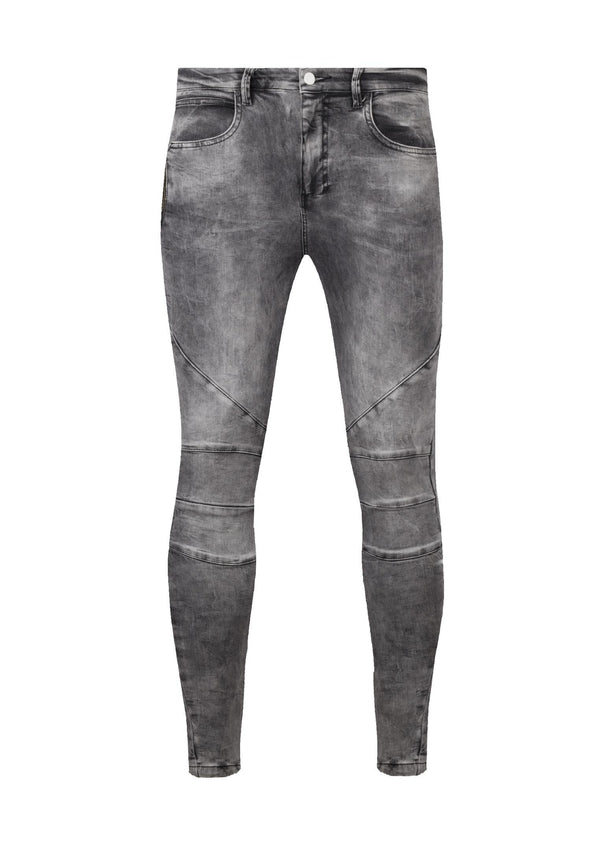 RELIGION Blade Slim Fit Jeans Grey Decay