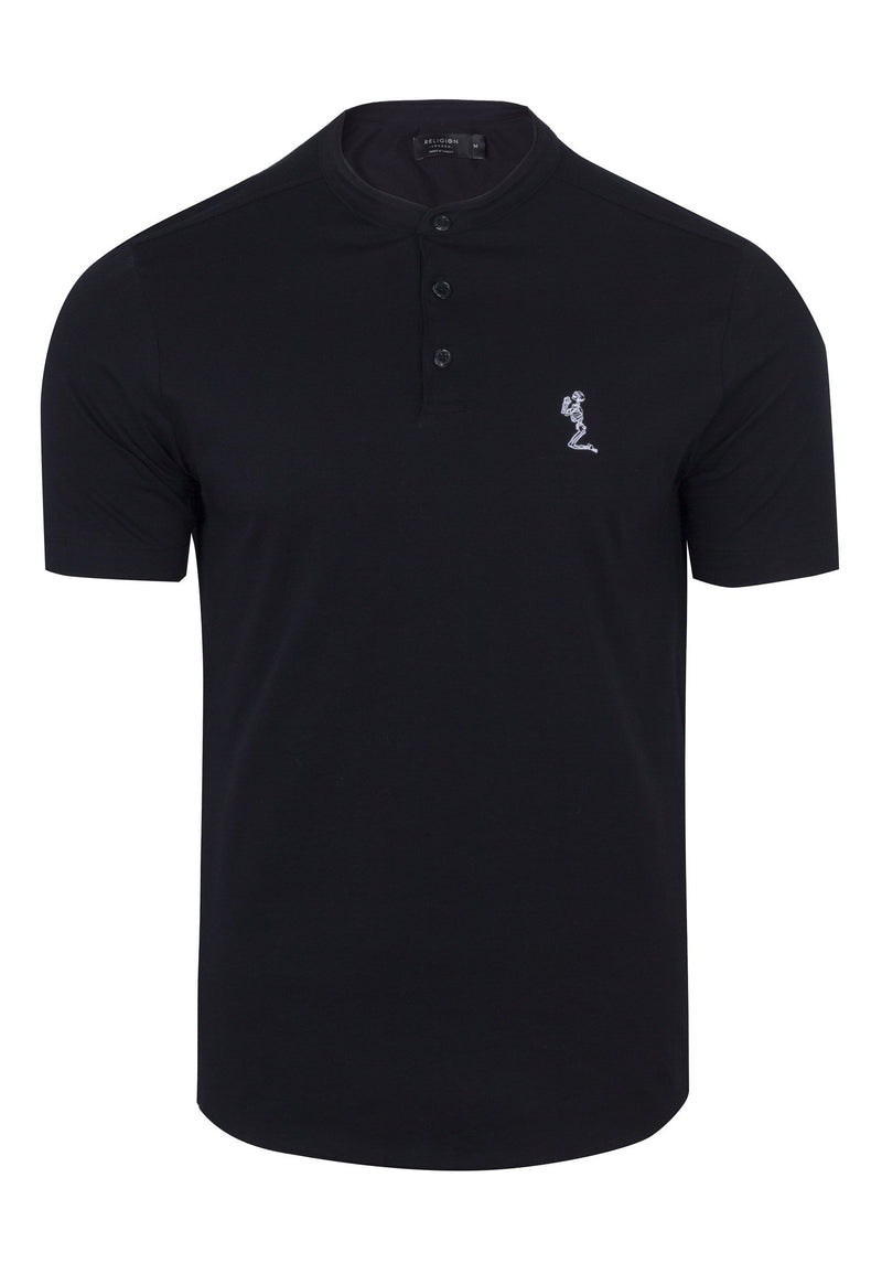 RELIGION Orson Black Polo Shirt