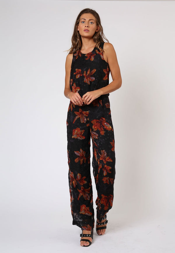 ENCHANTMENT GROW PRINT JUMPSUIT