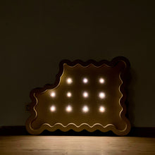 Load image into Gallery viewer, BITTEN BISCUIT wooden decorative LED light (FREE SHIPPING UK)