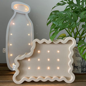 MILKANDBLACK wooden decorative LED light  (FREE SHIPPING UK)