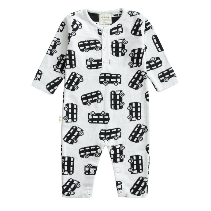 BUS knitted %100 cotton romper