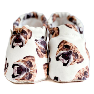BULLDOG baby moccasin shoes