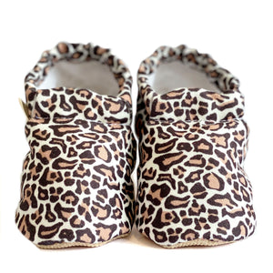 LEOPARD baby moccasin shoes