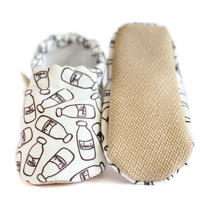 MILKANDBLACK baby moccasin shoes