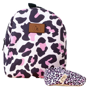 PINK LEOPARD kids backpack