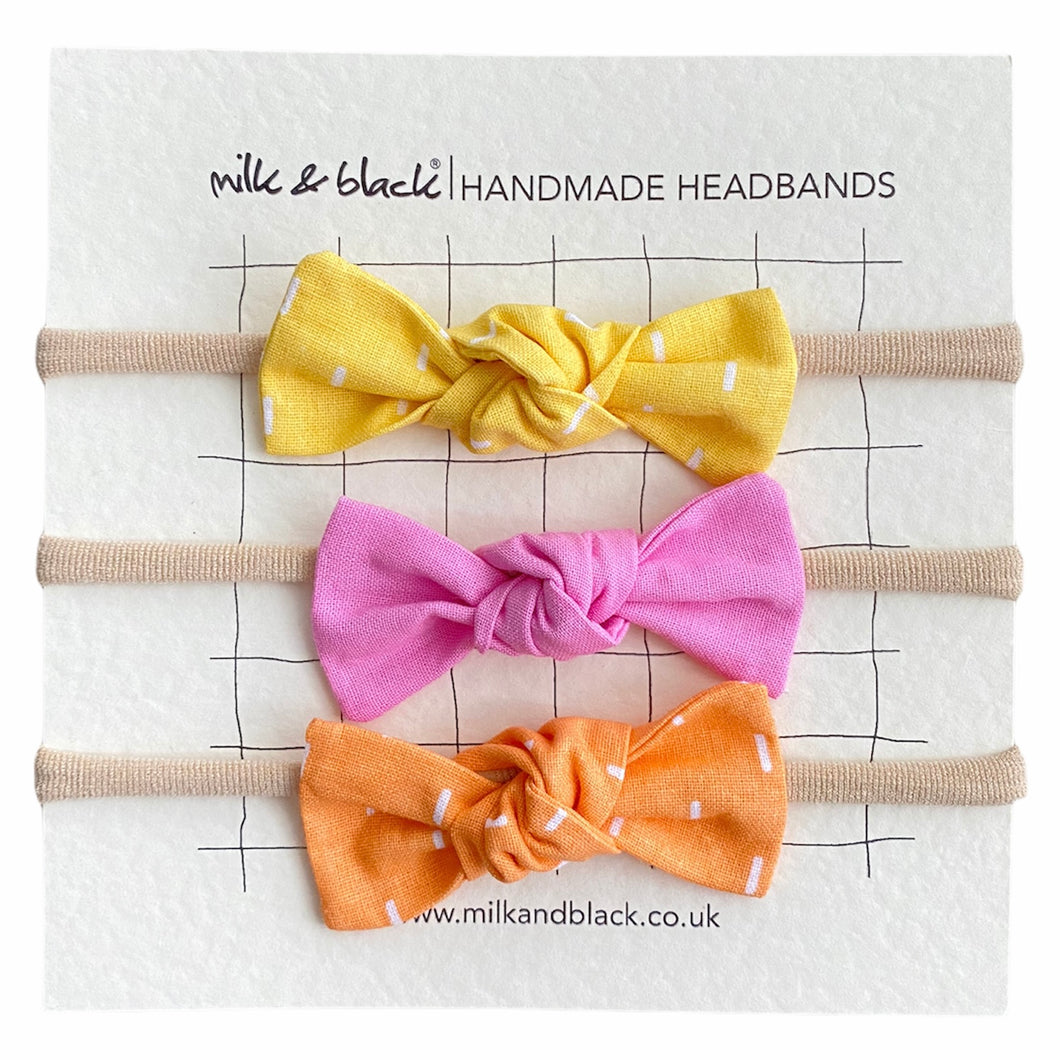 CANDY headband bow set
