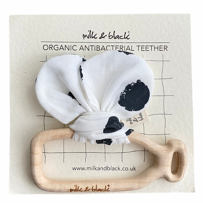 DOTTED organic antibacterial maplewood teether