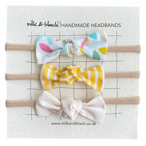 SOFT headband bow set