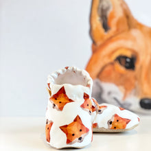 Load image into Gallery viewer, FOX baby moccasin shoes