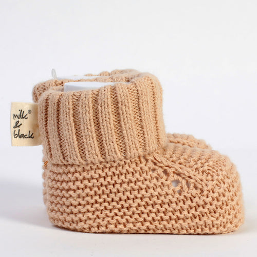 PURE beige knitted booties