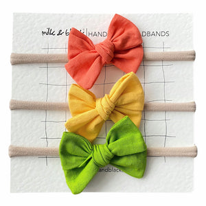 SPRING headband bow set