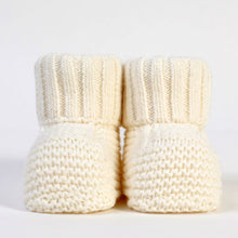 Load image into Gallery viewer, PURE white knitted %100 cotton booties