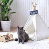 NEW Adorable White Pet TeePee