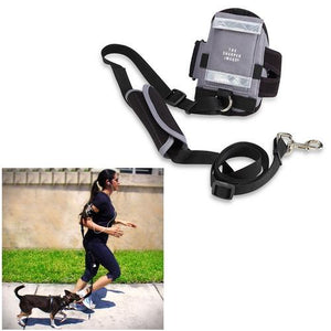 NEW Sharper Image All-in-One Hands-Free Armband Pet Leash