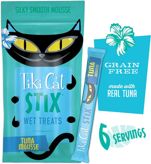 NEW Tiki Cat Stix Wet Treats, Grain Free Lickable Silky Smooth Blend in Creamy Gravy, Topper or Treat