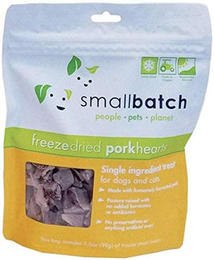 Small Batch Freeze Dried Natural Heart Treats, 3.5 Ounces
