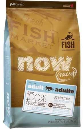 NEW Petcurean Now Fresh Grain Free Fish Adult Recipe Cat Food - 4lb