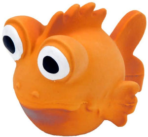 "NEW Rascals 3.5"" Latex Goldfish Small Dog Toy w/Squeaker"