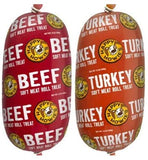 NEW HAPPY HOWIE Natural Gourmet Meat Rolls Treat Bundle Packs of Beef and Turkey 12 oz