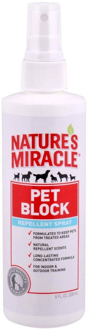 Nature's Miracle Pet Block Repellent Spray, 8 oz.