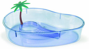 Lee's Turtle Lagoon, Kidney w/Plant, 14-Inch by 10-1/8-Inch by 3-Inch