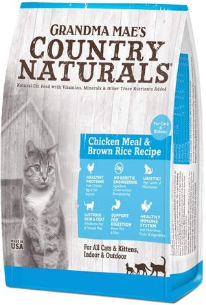Grandma Mae's Country Naturals Food for Cat and Kitten, 12-Pound