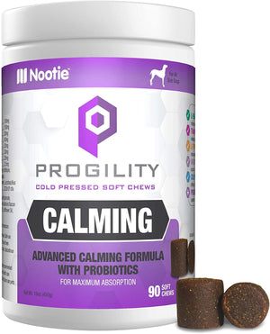 PROGILITY Nootie Calming Formula with Probiotics for Dogs - 90 Cold Pressed Soft Chews