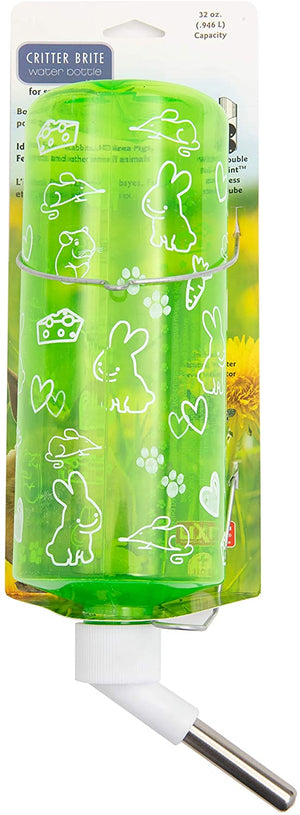 Lixit Animal Care Critter Bright Translucent Cage Water Bottles for Rabbits, Ferrets, Cats, Guinea Pigs and Other Small Animals